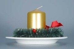 Cesky Porcelan Подсвечник рождественский с венком и свечой 10468/00032