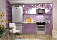 Кухня Кухня Интерьер-Центр Олива 2.1м фотопечать орхидея