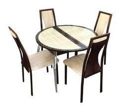 Обеденный стол Обеденный стол ЛИНАР Стол-трансформер круг