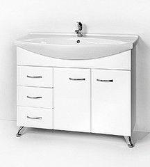 Мебель для ванной комнаты Акваль Тумба под умывальник Эмили прав. 105 см