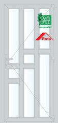 Дверь ПВХ Дверь ПВХ Salamander STL 900*2100 одностворчатая Модель 35