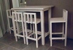 Обеденный стол Обеденный стол Драўляная майстэрня Барный из массива ясеня №7