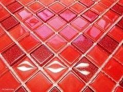 Мозаика Мозаика Primavera by Fabrizio Moretti BM121 Szklana z brokatem Czerwona mix