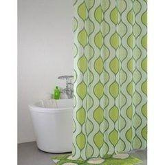 Iddis Штора для ванной комнаты Curved Lines Green 402P20RI11