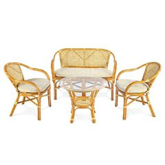 Комплект мебели из ротанга ЭкоДизайн Classic Rattan Ellena 11/21 Б