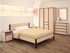 Кровать Кровать Интерлиния Констанция КН-001 (дуб молочный+дуб венге)