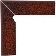 Клинкерная плитка Клинкерная плитка Ceramika Paradyz Cloud Brown Duro цоколь угловой левый 30x30