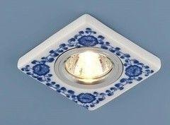 Встраиваемый светильник Elektrostandard 9034 керамика бело-голубой (WH/BL)