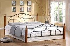 Кровать Кованая кровать Red&Black Alexa 160х200 (темный орех)