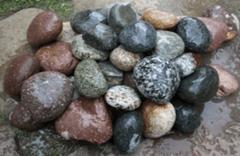 Натуральный камень Натуральный камень GabionCity Галька речная окат цветная