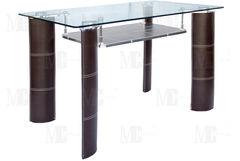Обеденный стол Обеденный стол Metsteklo GT308 коричневый