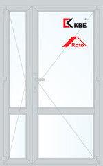 Дверь ПВХ Дверь ПВХ KBE 1300*2100 двустворчатая  Модель 96