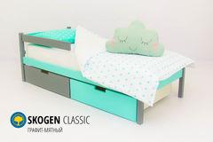 Детская кровать Детская кровать Бельмарко Skogen Classic графит-мятный