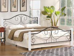 Кровать Кровать Halmar Violetta 160/200 (белый/черный)