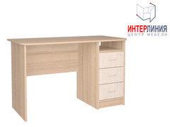 Письменный стол Интерлиния СК-001 Дуб сонома+Дуб белый