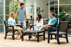 Комплект мебели из ротанга Keter Montero WLF Bench set серый