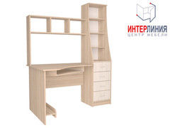 Письменный стол Интерлиния СК-004 Дуб сонома+Дуб белый