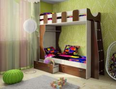Двухъярусная кровать Смолвилль Домовенок