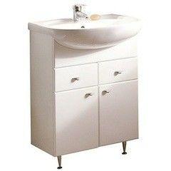 Мебель для ванной комнаты Акватон Тумба Кристалл 65 белая (1A054801KS010)