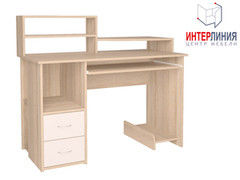 Письменный стол Интерлиния СК-009 Дуб сонома+Белый