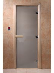 Дверь для бани и сауны Дверь для бани и сауны Doorwood Теплое утро сатин матовое 700x1900 (осина)