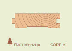 Доска пола Доска пола Лиственница 32*185*3500, сорт B