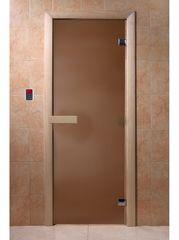Дверь для бани и сауны Дверь для бани и сауны Doorwood Бронза матовое 700x1900 (хвоя)