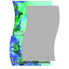Зеленая мебель для ванной Алмаз-Люкс Зеркало с полками F-421-3 (80x62)