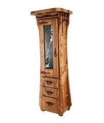 Мебель для ванной комнаты Orvietto Шкаф со стеклом BA008