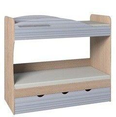 Двухъярусная кровать Глазовская мебельная фабрика Калейдоскоп 6 (серый фасад)