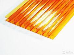 Светопрозрачная кровля Юг-Ойл-Пласт Оранжевый 2100х6000х4 мм