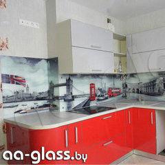 Скинали AA-Glass Скинали 11 из закаленного стекла 6мм + фотопечать (УФ-запекание)