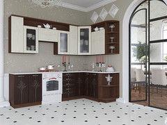 Кухня Кухня Артем-мебель Виола Каприз орех темный/ваниль глянец