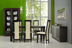 Обеденный стол Обеденный стол Paged Meble Carina (6 стульев)