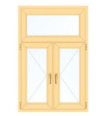 Деревянное окно Сосна для дачи, 1с, Модель 2