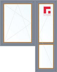 Дерево-алюминиевое окно Gutmann Лиственница 1440*2160, в/с, П/О+П