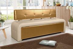 Кухонный уголок, диван ДвериДом Кухонный диван Оскар-2 (золото-беж)