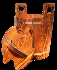 Аксессуар для бани noname Запарник с крышкой для бани 12л (лиственница)