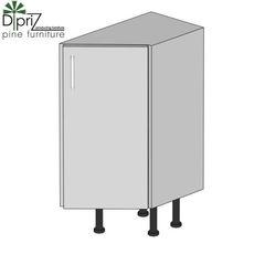 Кухонный шкаф Кухонный шкаф Диприз Шкаф нижний 30 концевой Д 9001-21