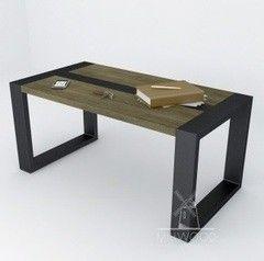 Журнальный столик MillWood Neo Loft-СТ-1 (дуб темный, белый металл)