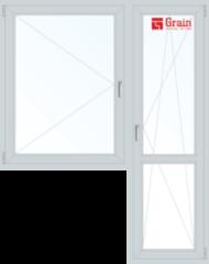 Окно ПВХ Grain Prestige 70 1440*2160 2К-СП, 5К-П, П+П/О