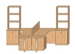 Мебель для персонала МебельДизайнПроект Пример 13