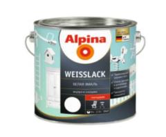 Эмаль Эмаль Alpina Weisslack 2.5 л