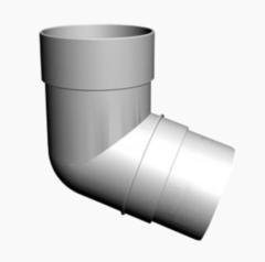 Водосточная система Docke Standard Колено трубы 72° (пломбир)