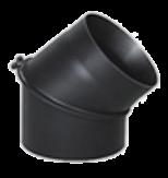 Комплектующие для печей и каминов Bertrams Дымоходное колено Ø150×45°
