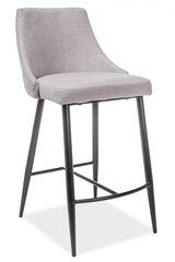 Барный стул Барный стул Signal Nobel H-1 (серый/черный мат)
