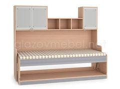 Детская кровать Детская кровать Глазовская мебельная фабрика Калейдоскоп 1 (Серый)