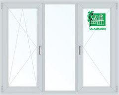 Окно ПВХ Окно ПВХ Salamander Пластиковое окно 2060*1420 1К-СП, 5К-П, П/О+Г+П