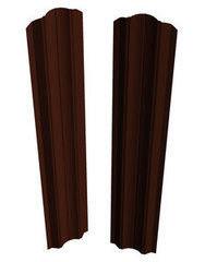 Забор Забор Скайпрофиль Штакетник M-121 (рифленый) одностороннее покрытие Пэ глянцевый RAL8017