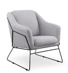 Кресло Halmar Soft 2 (светло-серый/черный)
